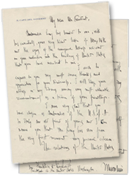 This letter from Benito Mussolin to FDR, ca. June 1933, was found within the Tully Archive.