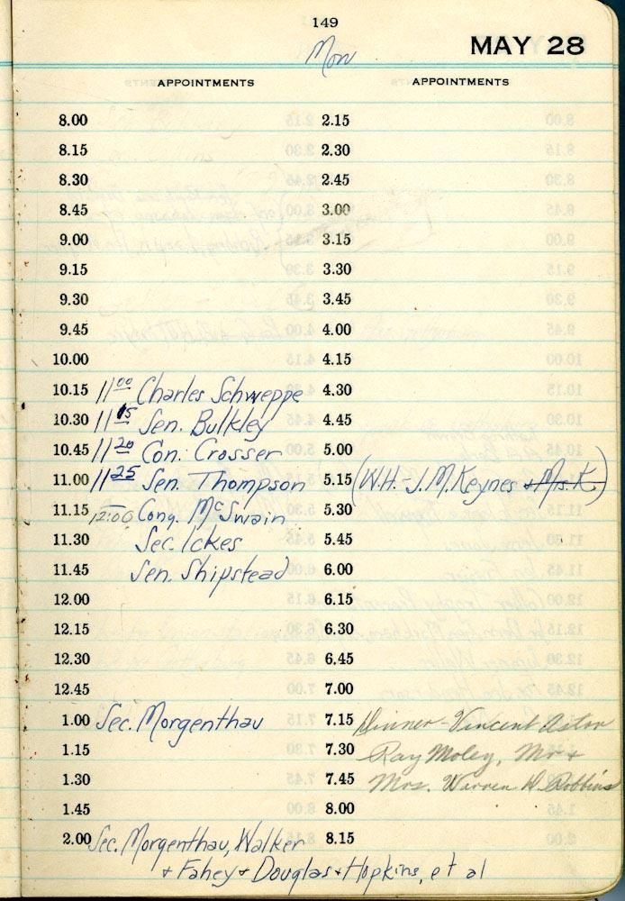 May 28 1934 - Stenographers Diary