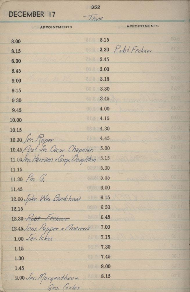 December 17 1936 - Stenographers Diary