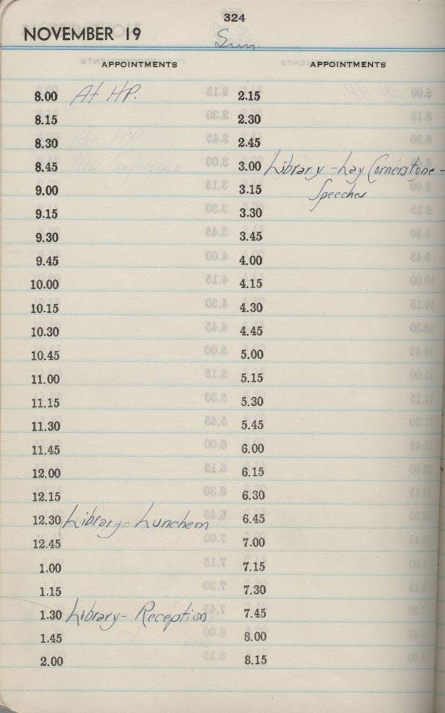 November 19 1939 - Stenographers Diary