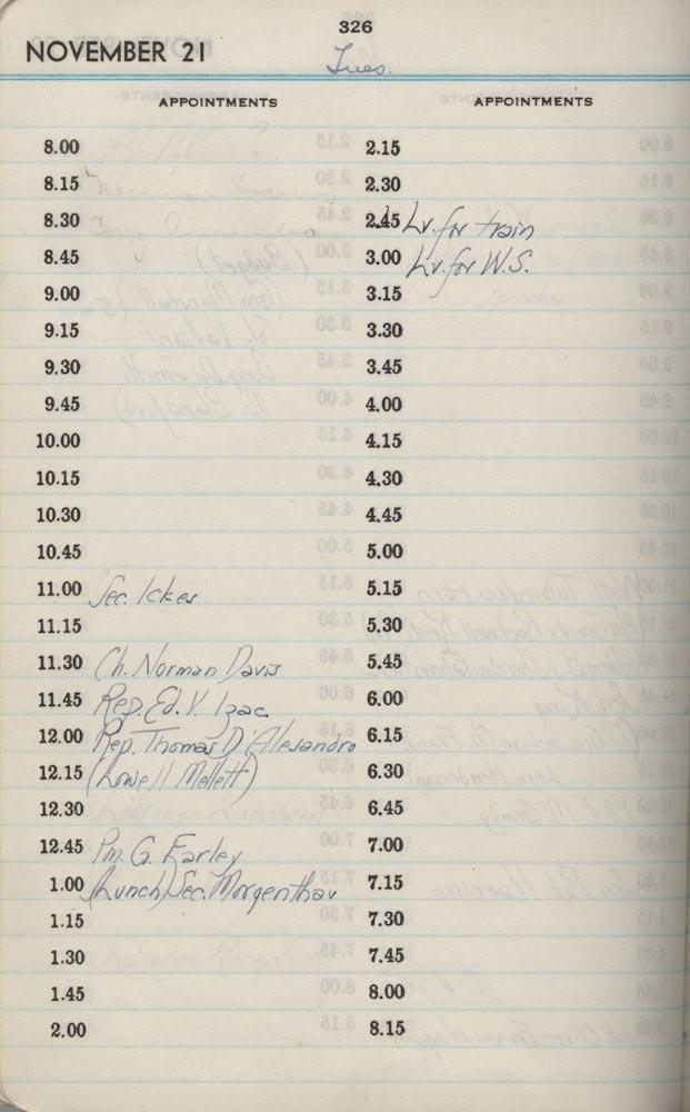 November 21 1939 - Stenographers Diary