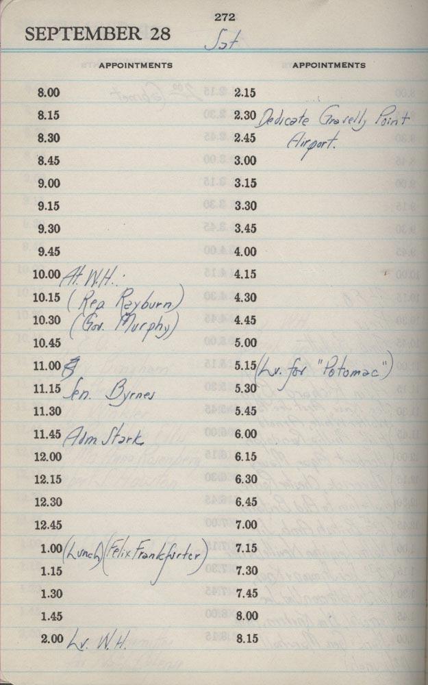 September 28 1940 - Stenographers Diary