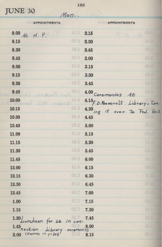 June 30 1941 - Stenographers Diary