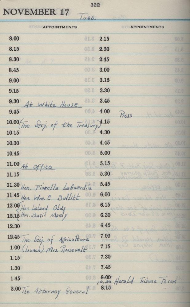 November 17 1942 - Stenographers Diary