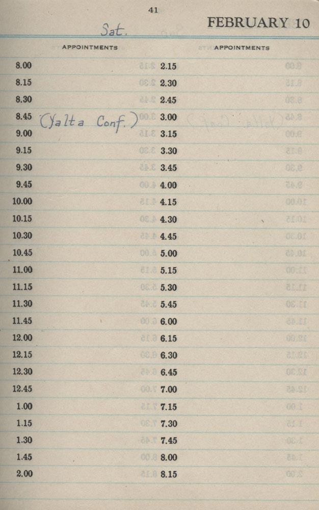 February 10 1945 - Stenographers Diary