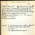 January 18 1934 - Ushers Log