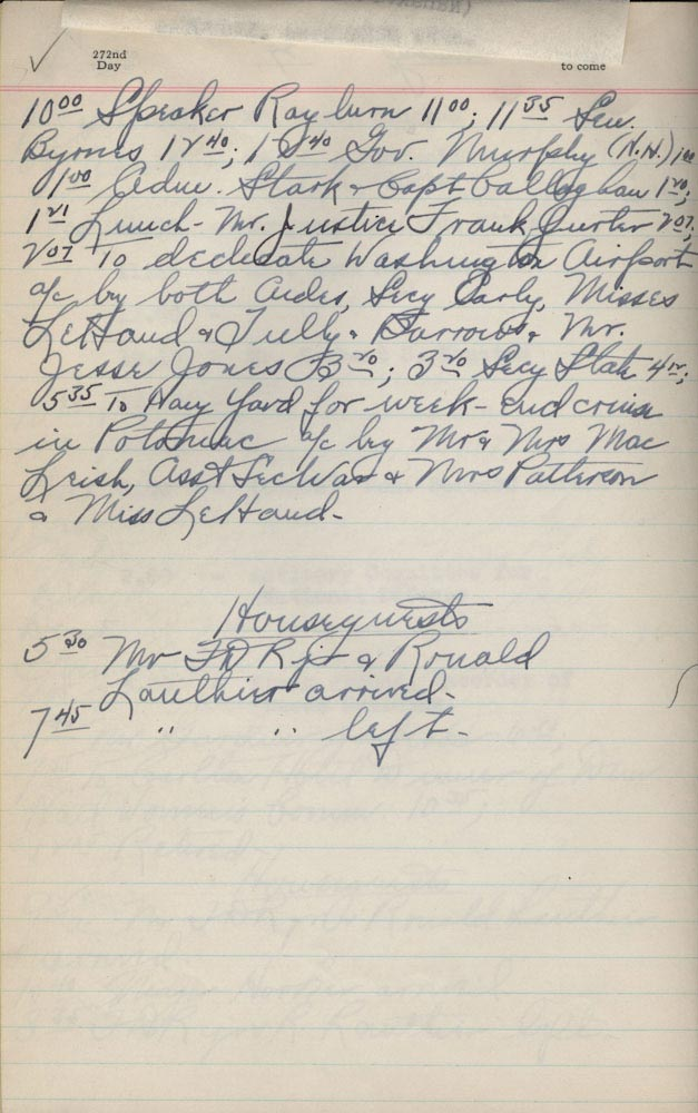 September 28 1940 - Ushers Log